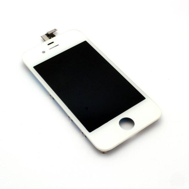 شاشة ايفون 4G لون أبيض