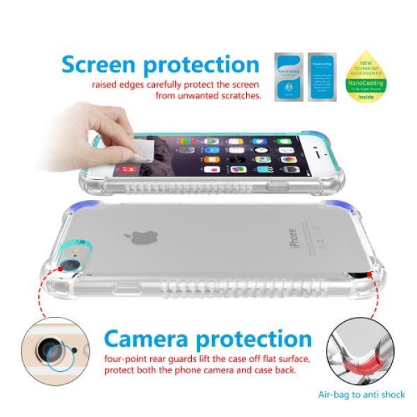 Iphone 6S حماية الشاشه المتكامله ماركة اكس بانثر مع جراب مضماد للصدمات وحمايه للكاميرا