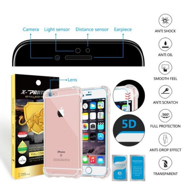Iphone 6 Plus حماية الشاشه المتكامله ماركة اكس بانثر مع جراب مضماد للصدمات وحمايه للكاميرا
