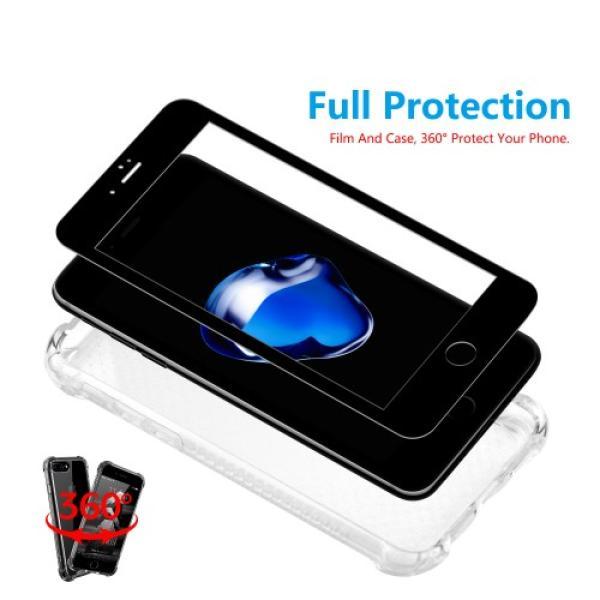 Iphone 7 حماية الشاشه المتكامله ماركة اكس بانثر مع جراب مضماد للصدمات وحمايه للكاميرا