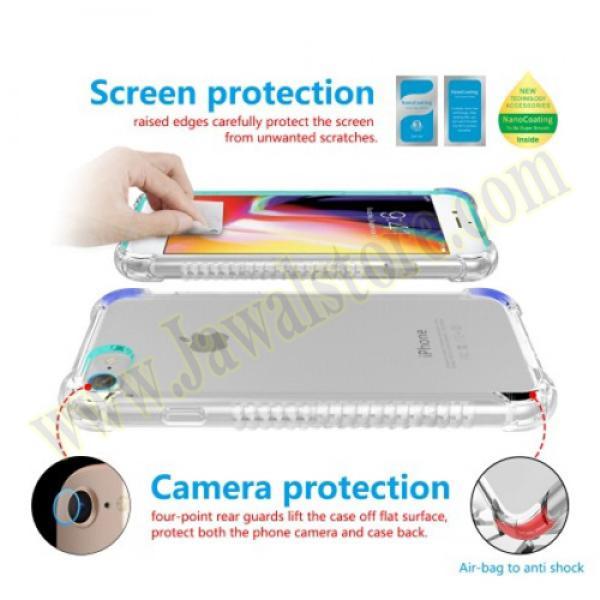 Iphone 8 حماية الشاشه المتكامله ماركة اكس بانثر مع جراب مضماد للصدمات وحمايه للكاميرا