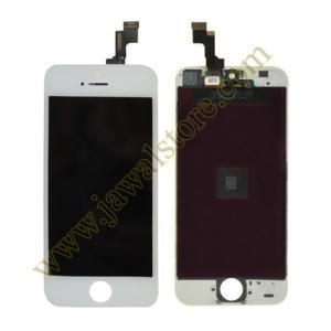 شاشة كاملة خارجية وداخلية ايفون 5S أبيض