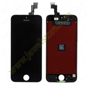 شاشة كاملة خارجية وداخلية ايفون 5S اسود