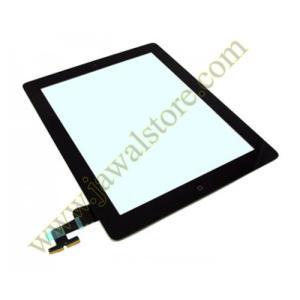 الشاشة الخارجية ايباد 2 اللون الأسود مع زر الهوم ولاصق تثبيت الشاشه