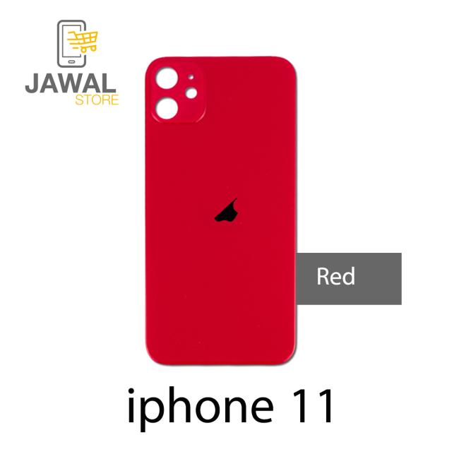 الخلفيه الزجاج لايفون 11 باللون احمر