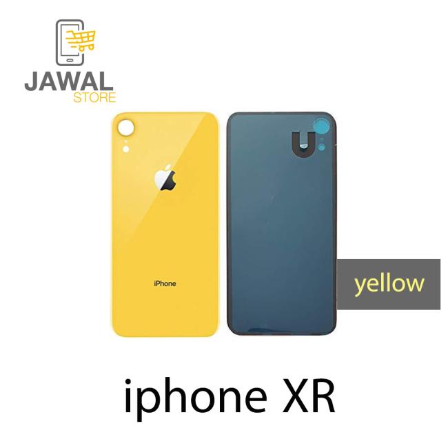 الخلفيه الزجاج لايفون XR باللون الاصفر