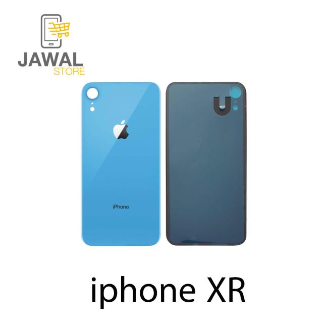 الخلفيه الزجاج لايفون XR باللون الازرق