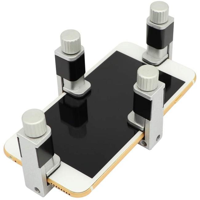 كليب معدن 4 قطع شاشة الهاتف أداة إصلاح شاشة قابل للتعديل مشبك التثبيت شاشة التثبيت أدوات متوافقة مع آيفون ، آيباد ، الكمبيوتر المحمول ، الأجهزة اللوحية ، إصلاح شاشة LCD