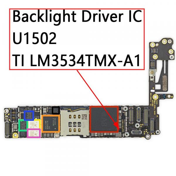 Backlight Driver IC U1502 12Pin For IPhone 6 6Plus  - اي سي الاضاءة ايفون 5c - 5s - 6 - 6plus -