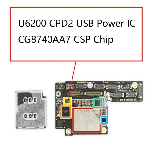 U6200 CPD2 USB Power IC CG8740AA7 For IPhone XS XS Max