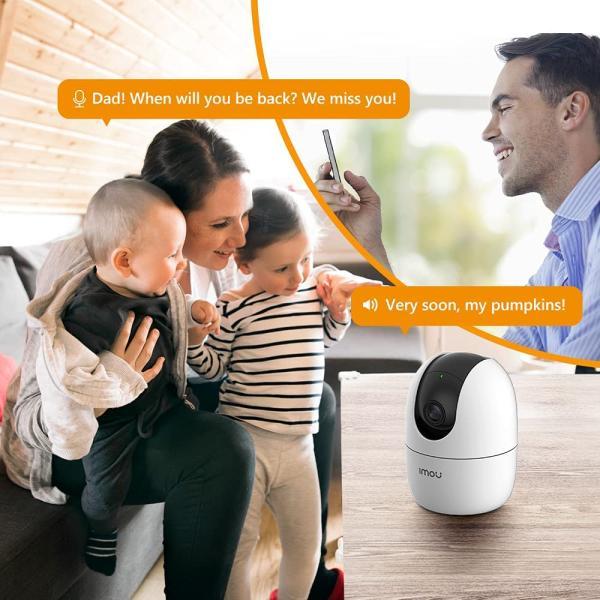 كاميرا واي فاي بخاصية التحريك والامالة 1080 بي اتش.265، تغطية 360 درجة مع كشف بالذكاء الصناعي عن الاشخاص ووضع الخصوصية