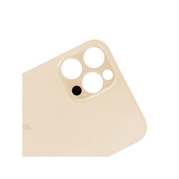 الخلفية الزجاج ايفون 12 برو  ماكس باللون الذهبي- حلقة واسعة