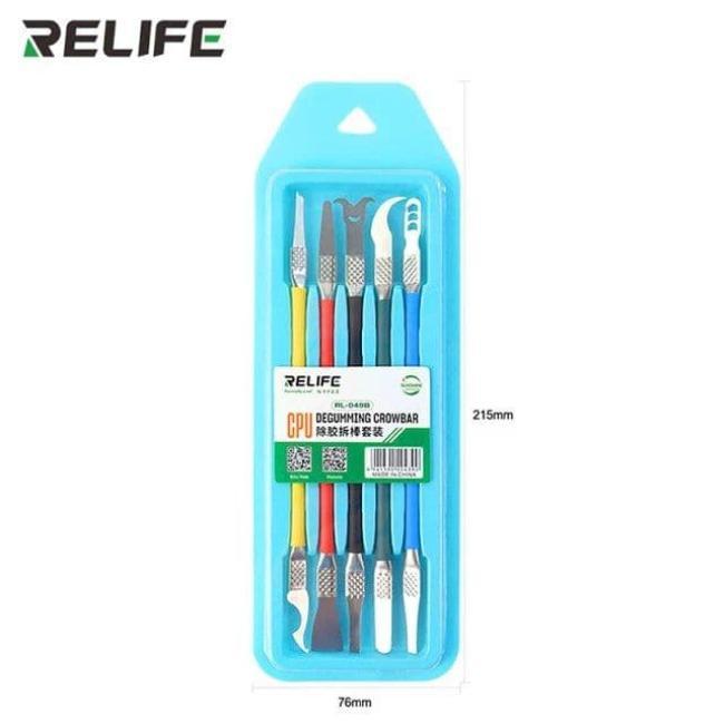 ادوات تنظيف وفك الايسهات - RELIFE RL-049B CPU glue removal Crowbar set