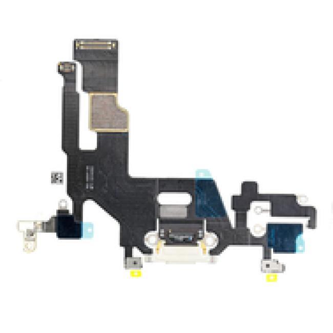 مدخل شحن IPHONE 11 USB المرن - أبيض